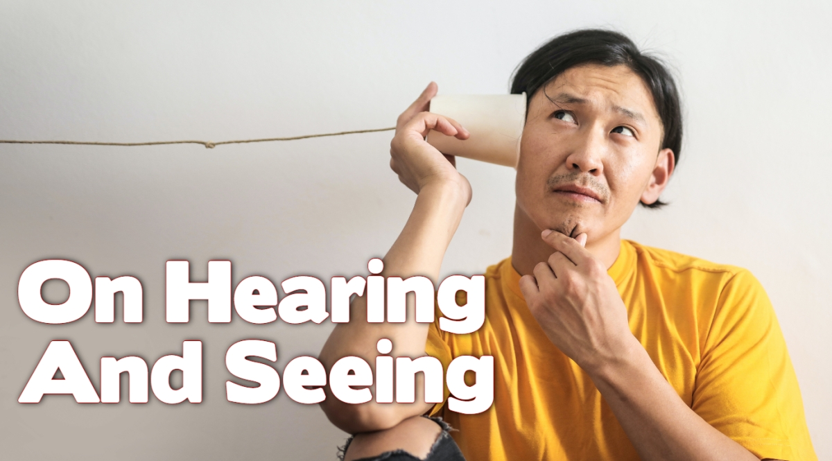 On Seeing and Hearing
