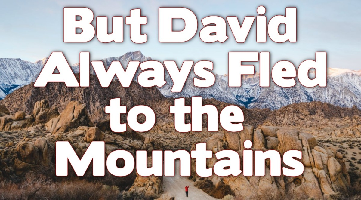 But David Always Fled to the Mountains!